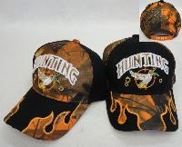 HUNTING Hat [Duck] Camo Flames on Bill